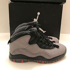 Nike Air Jordan X 10 Retro COOL GREY INFRARED BLACK STEEL RED 310805-023 SZ 7.5