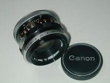 CANON FL objectif 1.8/50 mm lens photo photographie argentique