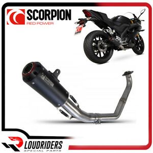 Scorpion Full Exhaust System Red Power Yamaha YZF R 125 2019-20