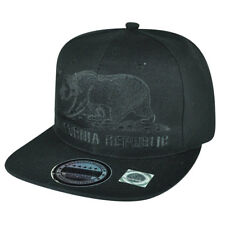 California Republic Cali Bears Solid Flag Logo Plain Snapback Flat Bill Hat Cap