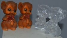 Vintage Salt Pepper Shakers Mice Mouse Cut Plastic