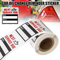 100pcs/Roll Oil Change Service Reminder Stickers Clear Window Lite Sticker