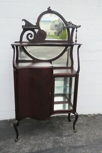Victorian Solid Cherry Music Cabinet Display Shelving Etagere 2393