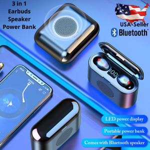 Air Wireless Headphones & Bluetooth Speaker EarBud Pods Compatible Android & IOS