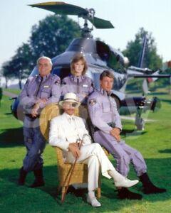 Airwolf (TV) Ernest Borgnine, Jan Michael Vincent Cast 10x8 Photo