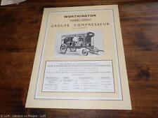 1923.Publicité groupe compresseur Worthington.