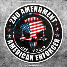 2nd Amendment Hard Hat Sticker / Decal American Rights Gun Helmet Motorcycle x2