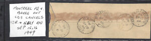 CANADA SERIES OF TOWN AND RPO CDS CANCELS ON PIECE VF USED (BS19748)