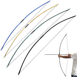 """25-70lbs English Longbow 67"""" Straight Bow Traditional Archery Hunting Target"""
