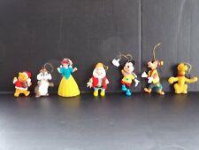 Vtg Walt Disney Productions Xmas Ornaments Doc Mickey Pluto Goofy Chip Snow Pooh