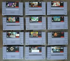 Lot of 12 games for Nintendo SNES Cold Shadow, Dino City, Blues Brothers, Krusty