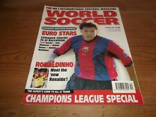 Football Magazine World Soccer October 1999 Euro Stars Champions League Special