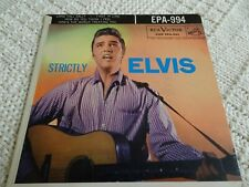 ELVIS PRESLEY RCA EP 994  STRICTLY ELVIS   NO DOG ON LABEL  LONG TALL SALLY &3