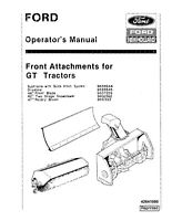 NEW HOLLAND Ford Front Attachments for GT TRACTOR OPERATORS MANUAL