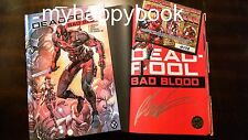 SIGNED Deadpool Bad Blood by Rob Liefeld, hardcover new autographed with photos