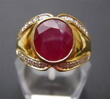 Men's 18K Solid Gold Natural Ruby Ring