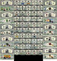 LOT X50 BILLETS DOLLAR Les 50 ETATS AMERICAINS ! COLLECTION Histoire US USA Unis