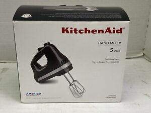 NEW KitchenAid 5-Speed Hand Mixer Tempest Gray KHM512GT Stainless Steel Turbo