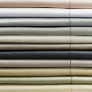 ITALY SFERRA GIOTTO COTTON SATEEN FITTED SHEET IN SOLID COLORS