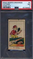 W542 Sports Drawings #9 Catcher PSA 7 *709661