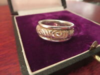 Auffälliger 925 Silber Ring Modern Drehbar Schlicht Muster Mystisch Modern Top