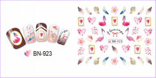 Nail Art Water Decals Transfers Stickers Summer Flamingo Palm Tree Floral BN923