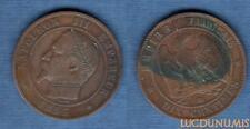 2nd Empire, 1852-1870 – 10 Centimes Satirique I 1853 BB Strasbourg Napoléon III