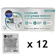 HOTPOINT Washing Machine Limescale Descaler Detergent Remover 12 Sachet 50g