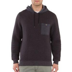 New Unionbay Men's Quilted Pullover Hoodie Charcoal Heather Size Large MSRP $54