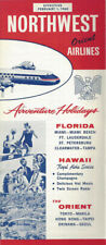 Northwest Orient Airlines system timetable 2/1/60 [0112]
