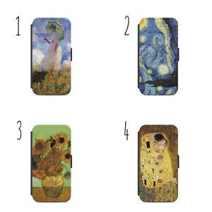 Classic Art Claude Monet Vincent van Gogh Gustav Klimt d23 Wallet Case iPhone