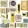 New East Of India Rubber Stamps Party Wedding Heart Craft Gift Card Name Tags