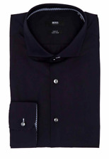NWT Hugo Boss Men's C-Jery Slim Fit Black Cotton Dress Shirt Size 15.5 New