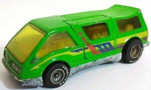 Hot Wheels Mattel 1983 Green Dream Van XGW Vintage Diecast Toy Vehicle w/RRs