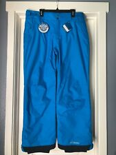 Men Columbia Artic Trip Insulated Waterproof Omni Tech Ski Snow Pant XL Blue NWT