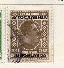 JUGOSLAVIA 1933 PRIMA EMISSIONE USATO FINE 50d. Optd 086677