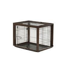 Richell Flip To Play Pet Crate Medium Dark Brown 94925 PET CRATE NEW