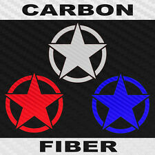 Military Star Decal Carbon Fiber Vinyl Army Star Sticker Choose Color