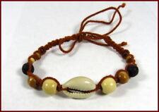 Modeschmuck-Armbänder im Surfer-Stil aus Holz mit Perlen (Imitation)