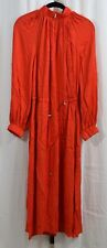 Tibi Georgette Side Toggle Tie Dress Red Size Small
