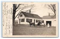 Postcard North Haven, NH Horse Carriage Farm Family 1905 & 1906 RPPC H31