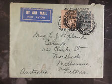 1931 London England to Melbourne Australia Airmail Cover