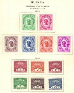 stamps Guinea   2 sets SC#J36-49