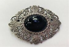 Fine Diamonds & Gemstones 925 Sterling Silver Vintage Real Marcasite Screw Shell Design Large Pin Brooch Fashionable Patterns