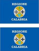 2x Adhesivo adesivi pegatina sticker vinilo bandera vinyl italia calabria
