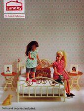 Lundby 60.2092 Smaland - Bedroom Set - Schlafzimmer Puppenhaus - 1:18