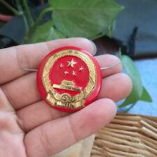 Vintage Chinese type 72 Police Enameled Metal Badge PIN 8312bfc067fb