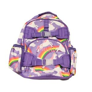 "Pottery Barn Kids Mini Mackenzie Lavender summer unicorn Backpack ""Olivia"""