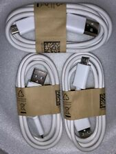 4-Pack Micro USB cable (3ft) for android charging/data transfer (Pearl White)