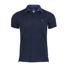 "Mens Diesel Polo Shirt ""basileus"" Denim Collar Tshirt Golf T-shirt 81e NavyBlue L"